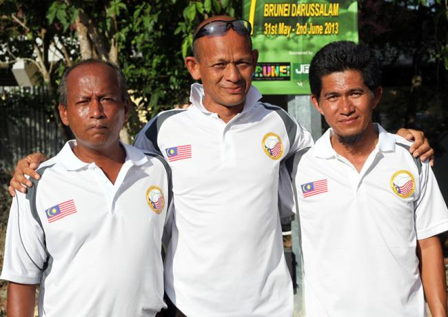 Malaysia's team of Zani Lisa Mohamed, Shaari Hassan and Syed Ali Syed Akil … Nation Cup champions